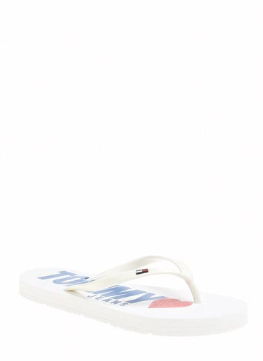 Tommy Hilfiger Kadın Love Tj Beach Sandal Sandalet EN0EN00316 Beyaz